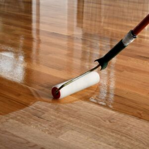 When to apply wax to a wooden or terrazzo floor?